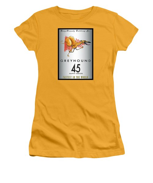 Greyhound 45 Mph Beer Women's T-Shirt (Athletic Fit)
