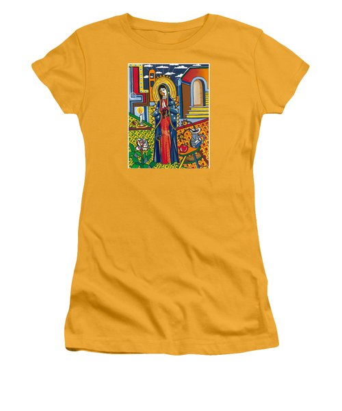 Guadalupe Visits Picasso Women's T-Shirt (Junior Cut) by James Roderick
