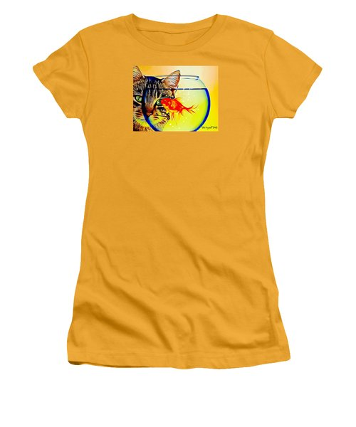 Guess Who's Coming To Dinner? Women's T-Shirt (Junior Cut) by Ted Azriel