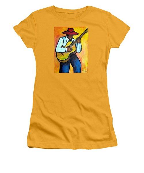 Guitar Man Women's T-Shirt (Athletic Fit)