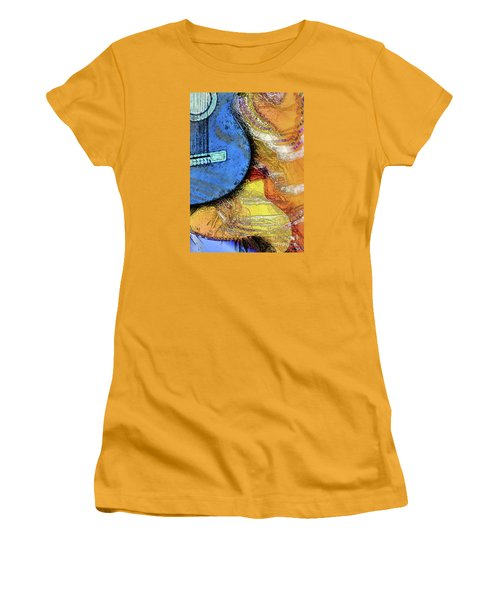Guitar Music Women's T-Shirt (Junior Cut) by Allison Ashton