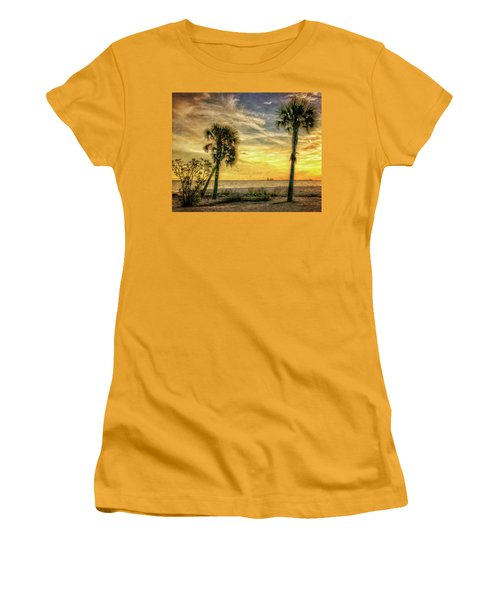 Gulfport Sunset Women's T-Shirt (Athletic Fit)