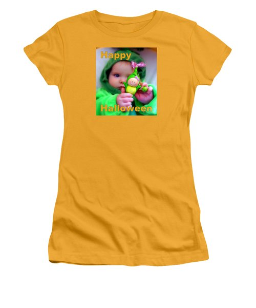Halloween Card Women's T-Shirt (Athletic Fit)