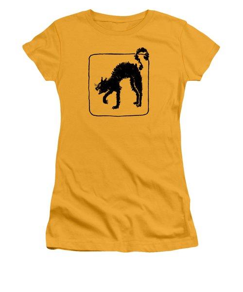 Halloween Cat Women's T-Shirt (Junior Cut) by rd Erickson