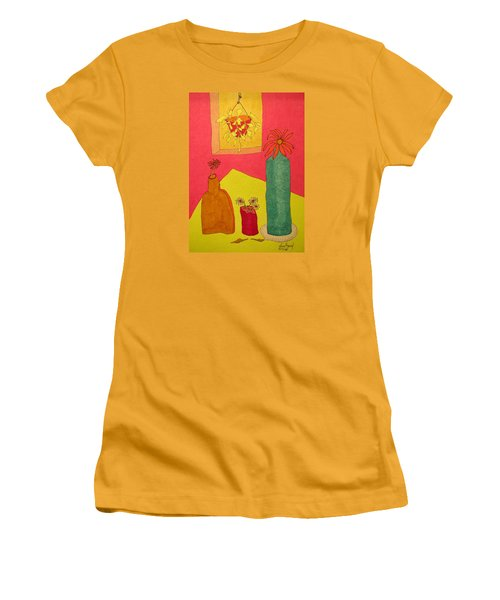 Hanging Plant And 3 On Table Women's T-Shirt (Athletic Fit)