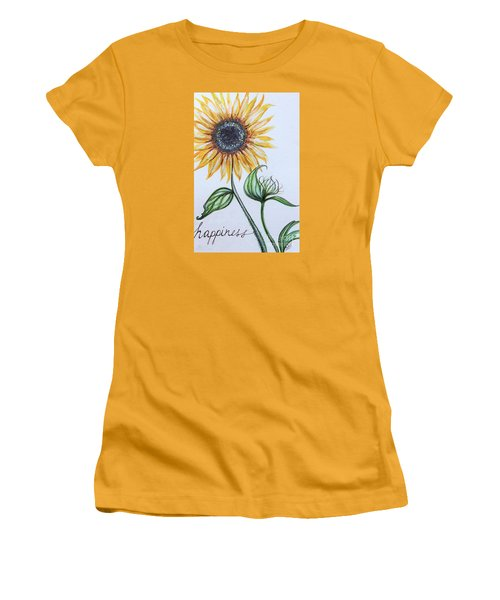 Women's T-Shirt (Junior Cut) featuring the painting Happiness by Elizabeth Robinette Tyndall