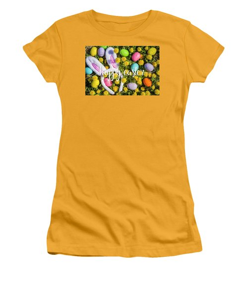 Women's T-Shirt (Junior Cut) featuring the photograph Happy Easter by Teri Virbickis