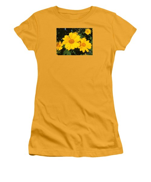 Happy Yellow Women's T-Shirt (Athletic Fit)