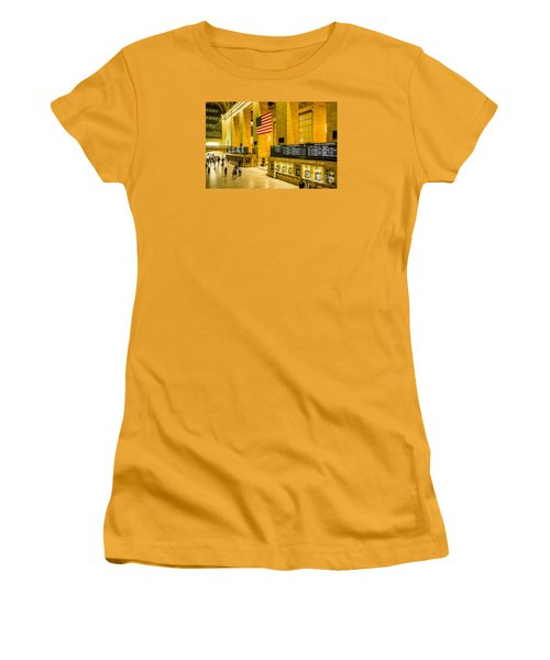 Women's T-Shirt (Junior Cut) featuring the photograph Grand Central Pride by M G Whittingham