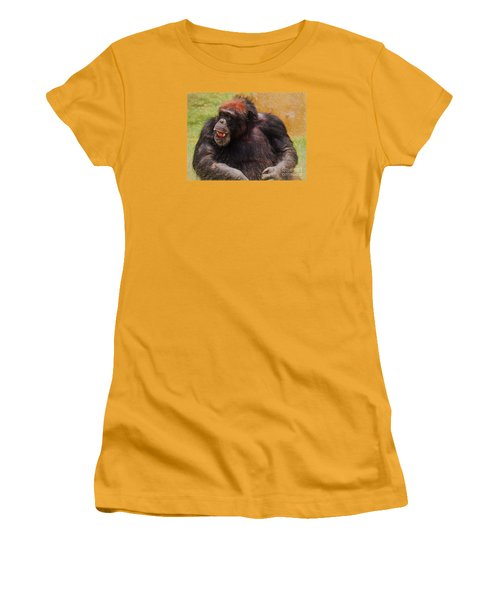 Women's T-Shirt (Junior Cut) featuring the painting Harry by Judy Kay