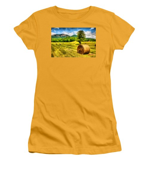 Harvest At Table Rock Women's T-Shirt (Junior Cut) by Lynne Jenkins
