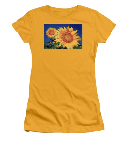 Women's T-Shirt (Junior Cut) featuring the photograph Heading For Gold by Chris Berry