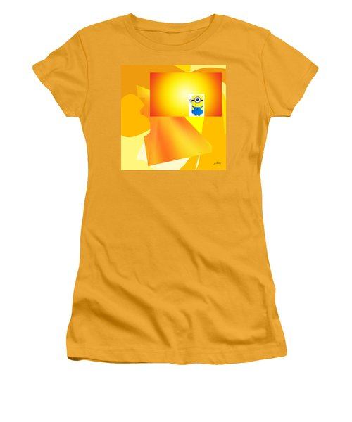 Hello Yellow Women's T-Shirt (Athletic Fit)