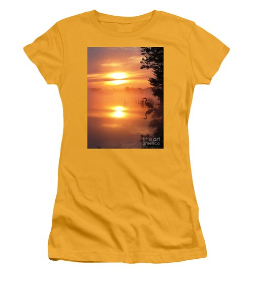 Women's T-Shirt (Junior Cut) featuring the photograph Heron Collection 2 by Melissa Stoudt