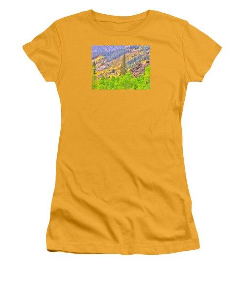 High Sierra Fall Colors Women's T-Shirt (Junior Cut) by Marilyn Diaz