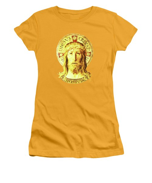 Holy Face Women's T-Shirt (Junior Cut) by Asok Mukhopadhyay