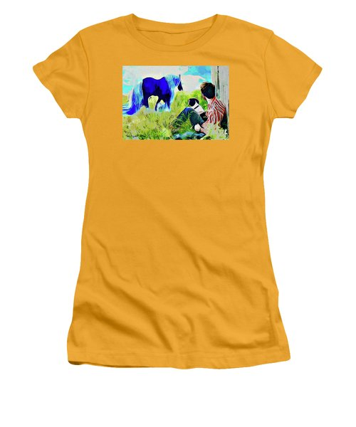 Horse Whisperer Women's T-Shirt (Junior Cut) by Ted Azriel