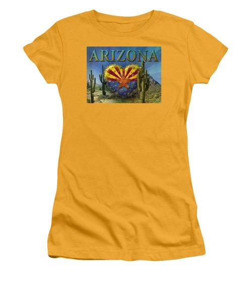 I Love Arizona Landscape Women's T-Shirt (Junior Cut) by James Larkin