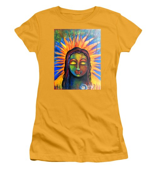 Illuminated By Her Own Radiant Self Women's T-Shirt (Junior Cut) by Prerna Poojara