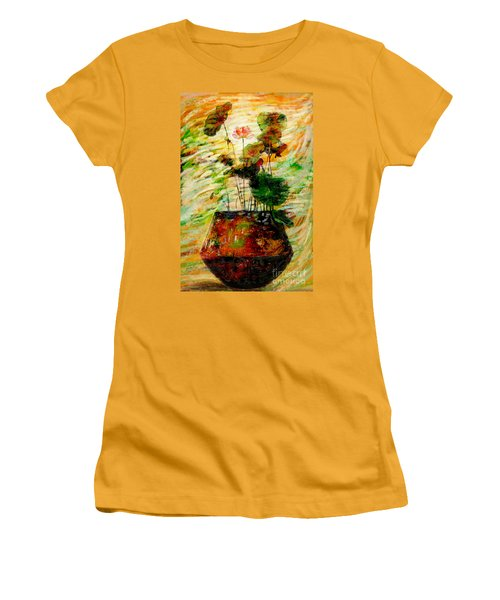 Impression In Lotus Tree Women's T-Shirt (Athletic Fit)