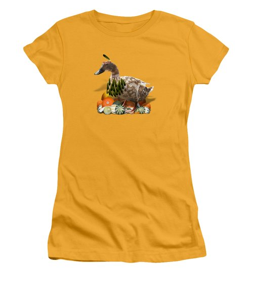 Indian Duck Women's T-Shirt (Junior Cut) by Gravityx9 Designs