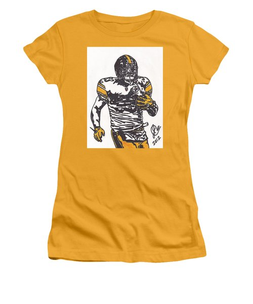 Women's T-Shirt (Junior Cut) featuring the drawing Isaac Redman by Jeremiah Colley