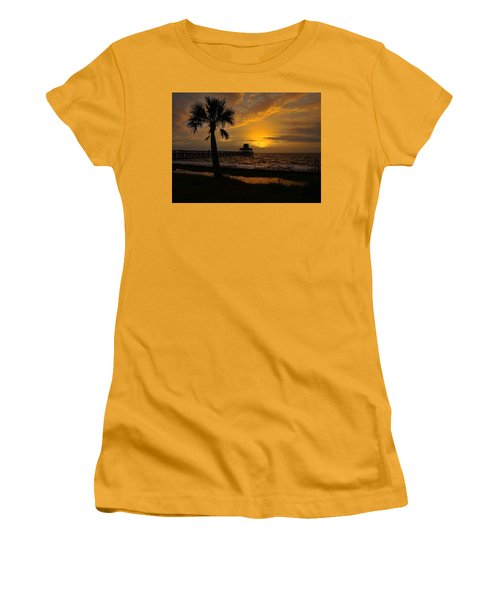 Island Sunrise Women's T-Shirt (Junior Cut) by Judy Vincent