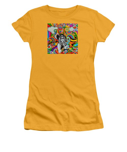 Janis In Wonderland Women's T-Shirt (Junior Cut) by Joseph Sonday