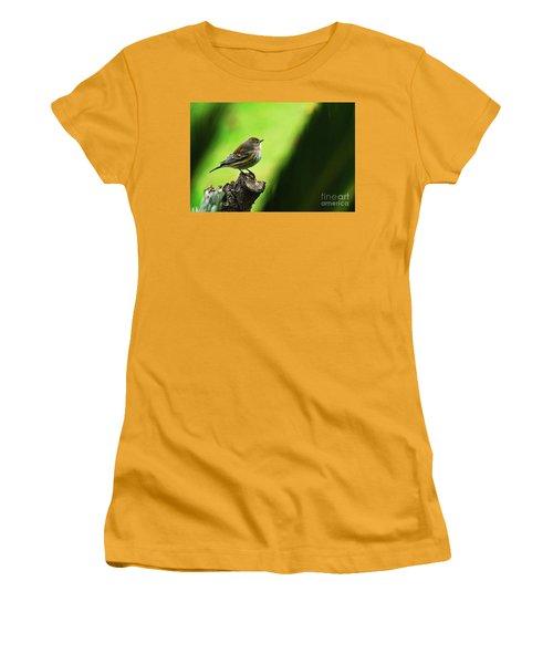 Women's T-Shirt (Junior Cut) featuring the photograph January Migration by Debby Pueschel