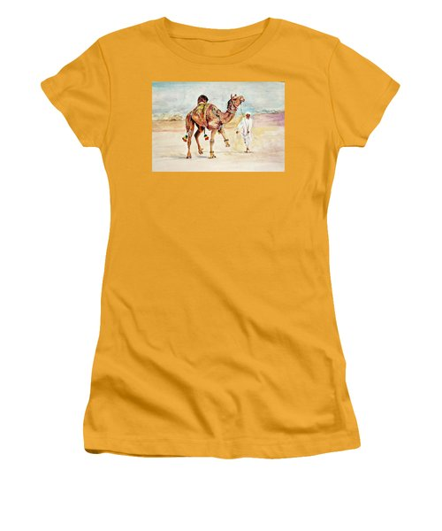 Jewellery And Trappings On Camel. Women's T-Shirt (Junior Cut) by Khalid Saeed