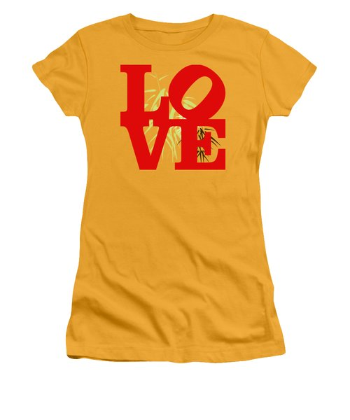 Jungle Love Tee Women's T-Shirt (Junior Cut) by Paulette B Wright