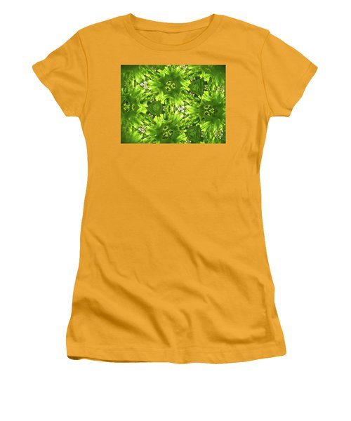 Kaleidoscope Flower Women's T-Shirt (Junior Cut) by Julia Wilcox