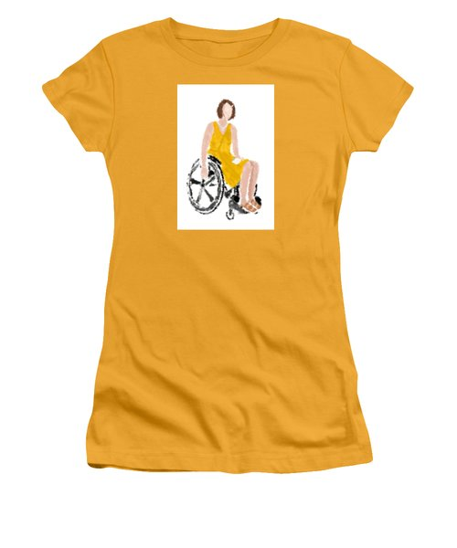 Women's T-Shirt (Athletic Fit) featuring the digital art Kelly by Nancy Levan