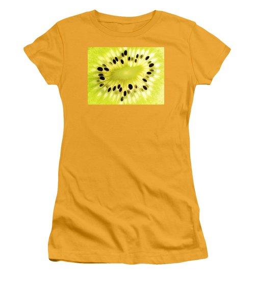 Kiwi Fruit Women's T-Shirt (Junior Cut) by Paul Ge