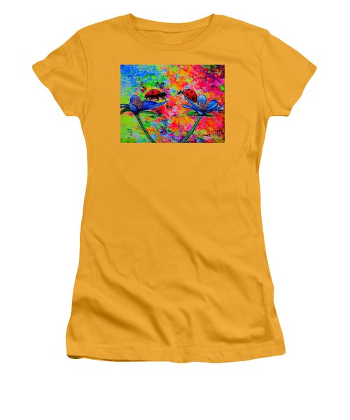 Lady Bugs Women's T-Shirt (Junior Cut) by Viktor Lazarev