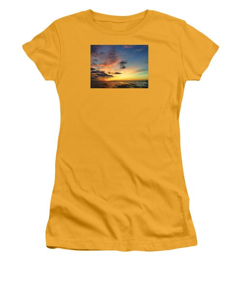 Lake Erie Sunset 2 Women's T-Shirt (Athletic Fit)