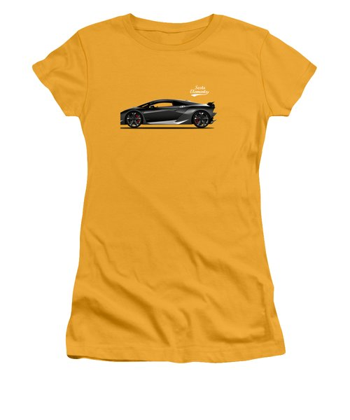 Lamborghini Sesto Elemento Women's T-Shirt (Junior Cut) by Mark Rogan