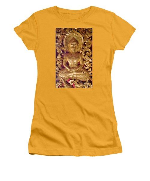 Women's T-Shirt (Junior Cut) featuring the photograph Laos_d264 by Craig Lovell