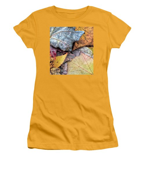 Leaf Pile Up Women's T-Shirt (Athletic Fit)