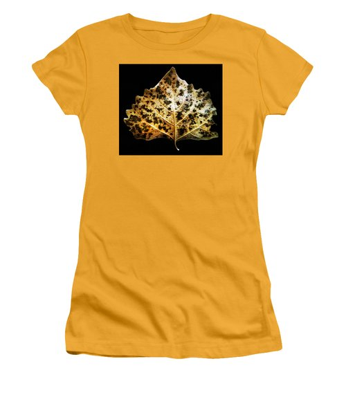 Women's T-Shirt (Junior Cut) featuring the photograph Leaf With Green Spots by Joseph Frank Baraba