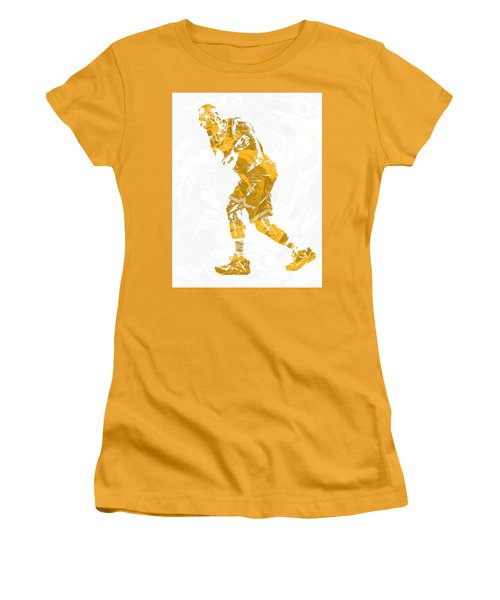 Lebron James Cleveland Cavaliers Pixel Art 13 Women's T-Shirt (Athletic Fit)