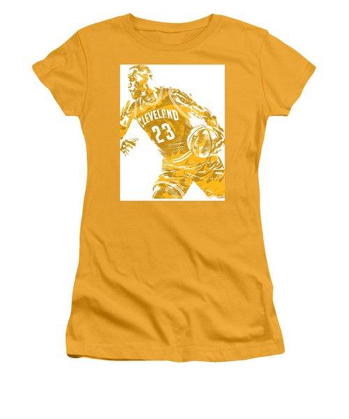 Lebron James Cleveland Cavaliers Pixel Art 20 Women's T-Shirt (Athletic Fit)