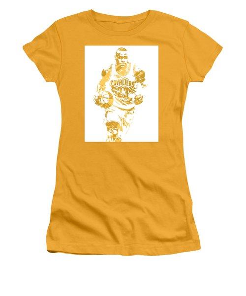 Lebron James Cleveland Cavaliers Pixel Art 7 Women's T-Shirt (Athletic Fit)