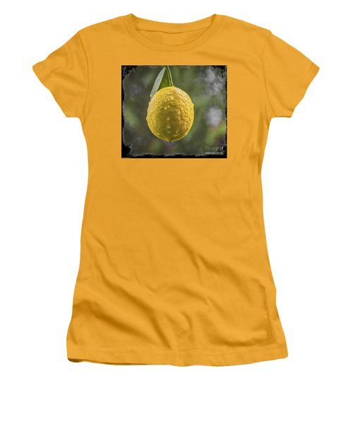 Women's T-Shirt (Junior Cut) featuring the photograph Lemon Fresh by Mitch Shindelbower