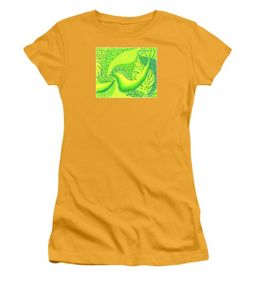 Women's T-Shirt (Junior Cut) featuring the drawing Lemon Lime by Kim Sy Ok