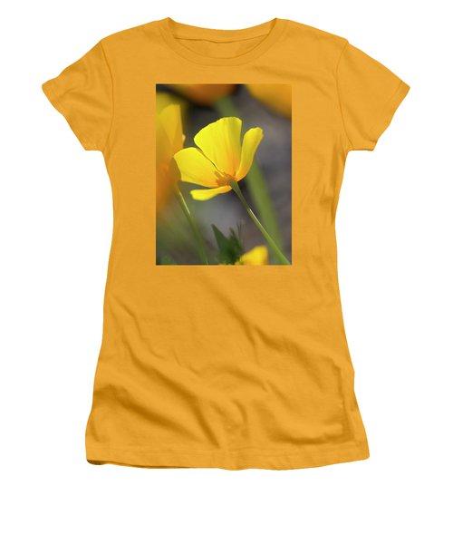 Lemon Yellow Women's T-Shirt (Junior Cut) by Sue Cullumber