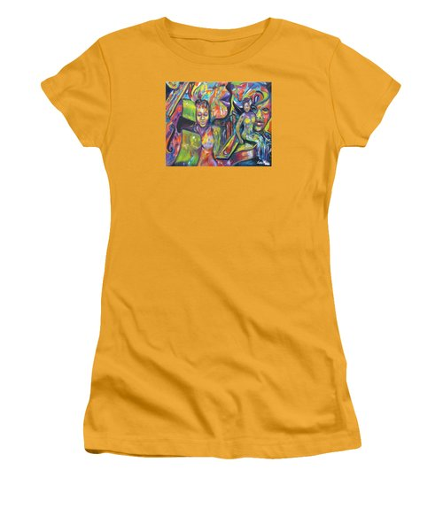 Let The Music Play Women's T-Shirt (Athletic Fit)