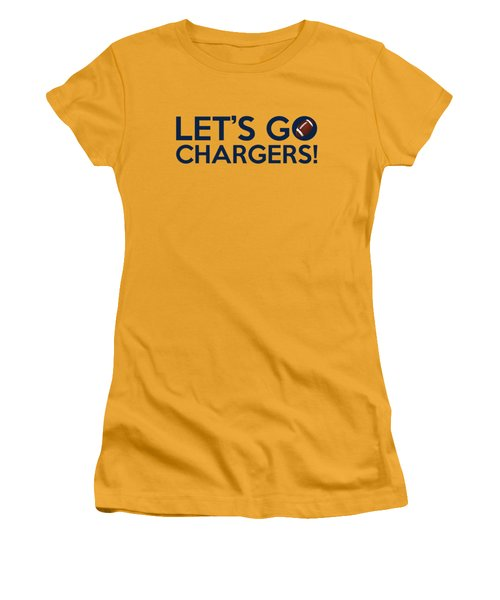Let's Go Chargers Women's T-Shirt (Athletic Fit)