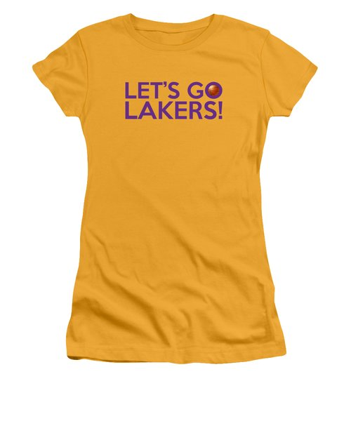Let's Go Lakers Women's T-Shirt (Athletic Fit)