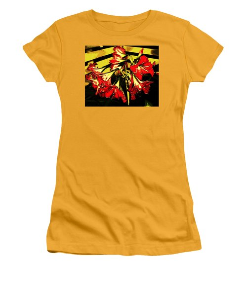 Women's T-Shirt (Athletic Fit) featuring the digital art Lily Gem by Winsome Gunning